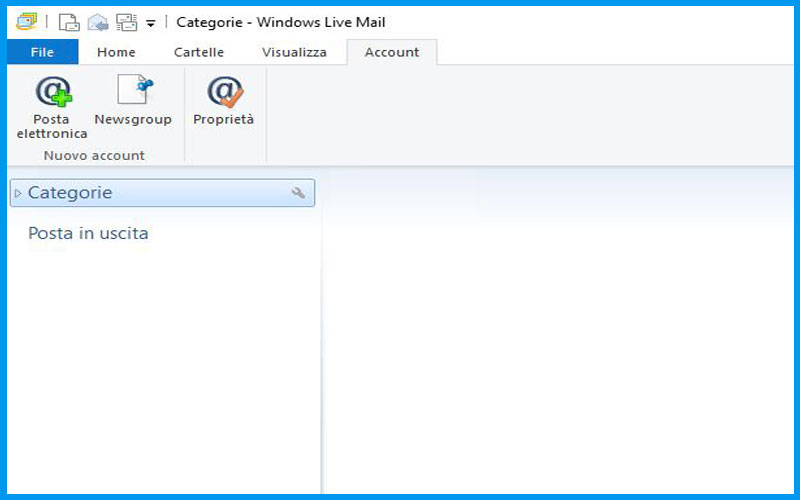Windows Live Mail 2012: crea nuovo account