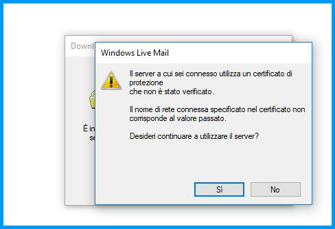 Windows Live Mail 2012: utilizza questo server